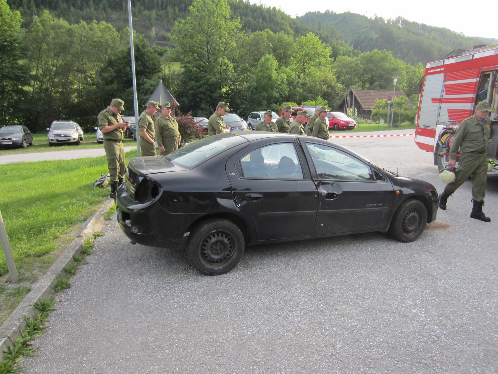Technische Übung mit Präsentation E-Auto   FF-Übelbach